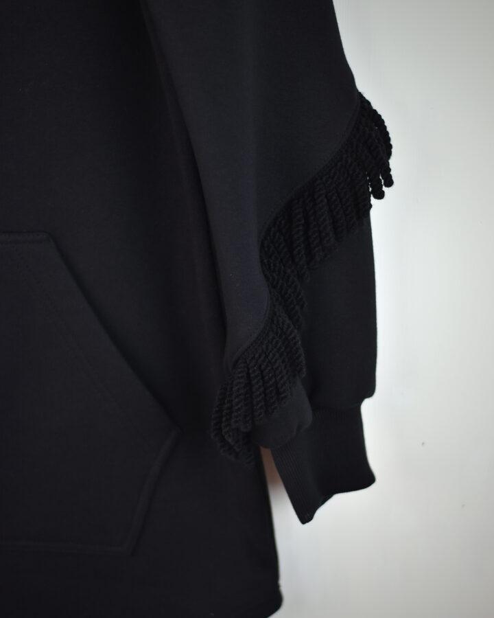 GRUS. Tunika ar bārkstīm/melna