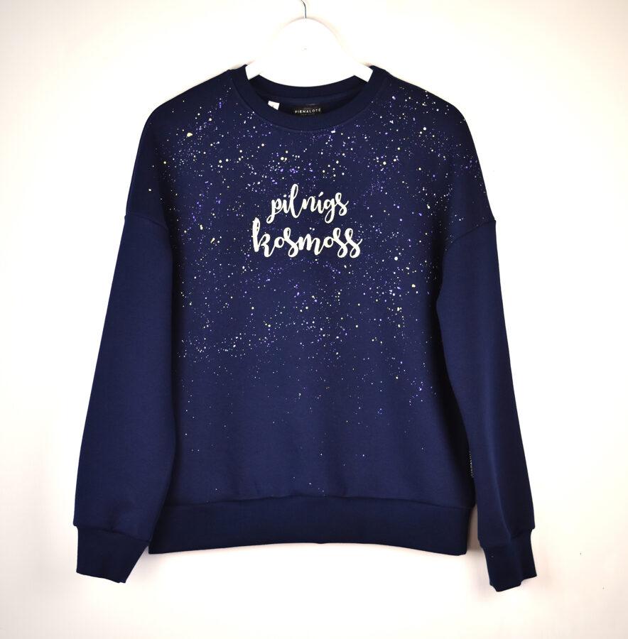 """Sieviešu džemperis """"PILNĪGS KOSMOSS""""/Tumši zils"""