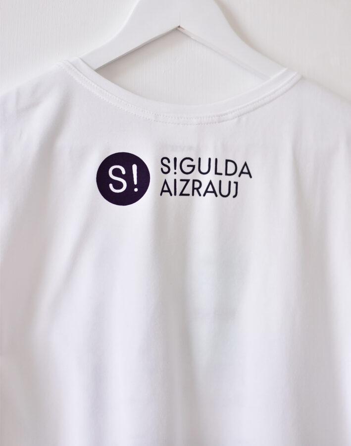 """T-krekls """"EJ RATĀ!"""", balts"""