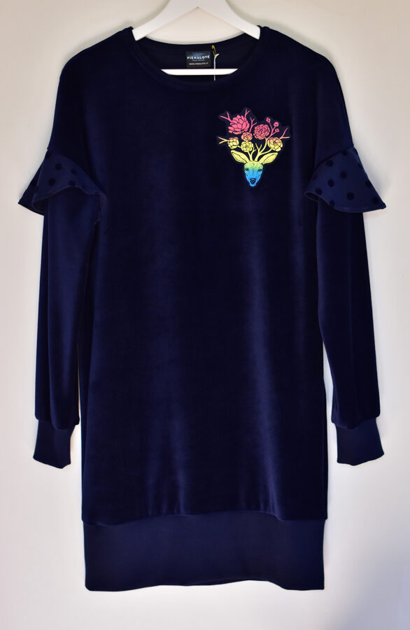 VELVETELLE/ Tumši zila ar krāsainu briedi