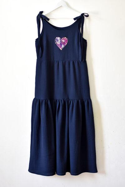 Garā kleita COSMIC LOVE/ M izmērs/T.zila