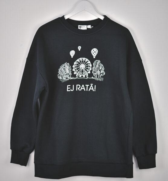Siltais džemperis EJ RATĀ /unisex/ melns